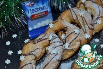 Рецепт: Заварное кольцо-печенье К Рождеству