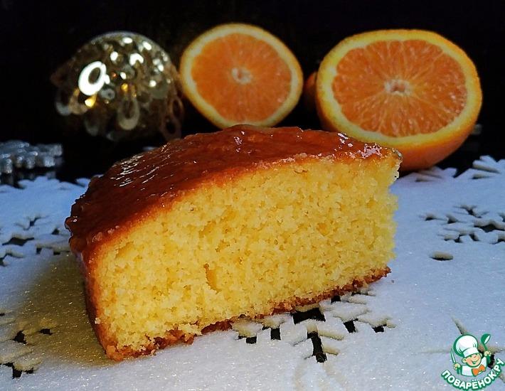 Рецепт: Рождественский апельсиновый пирог
