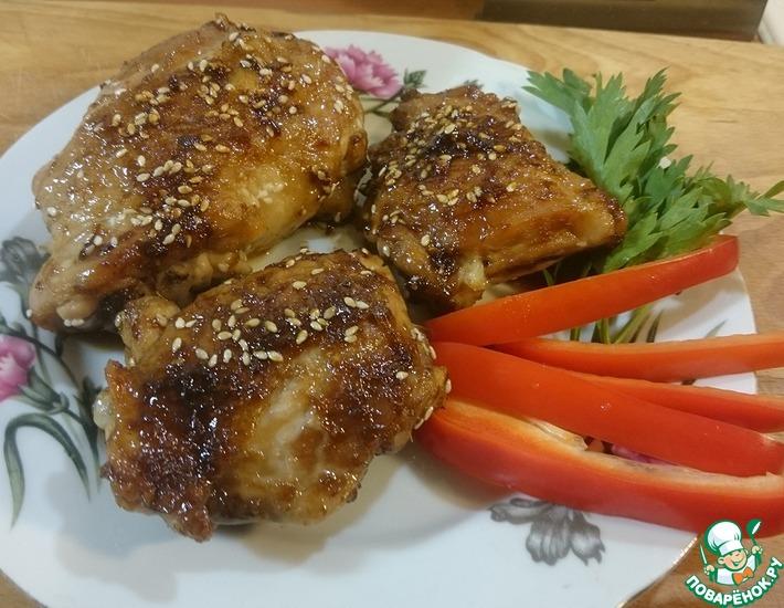Рецепт: Имбирные куриные бедра