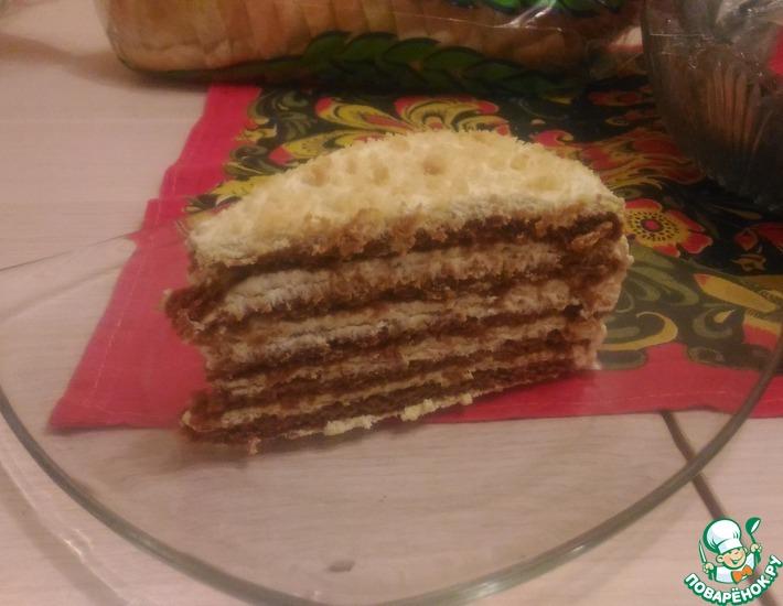 Рецепт: Торт Медовик без яиц