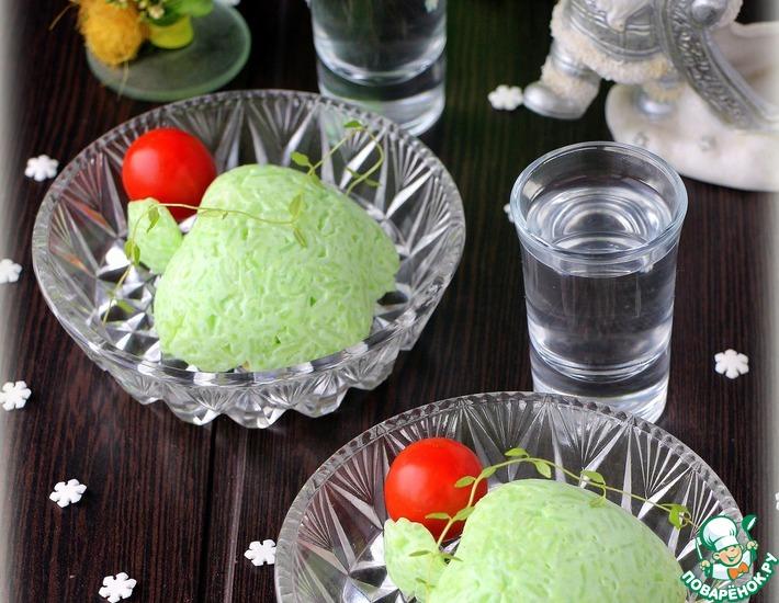 Рецепт: Рыбный салат в рисовой шубе