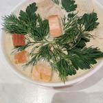 Суп-пюре из шампиньонов на курином бульоне