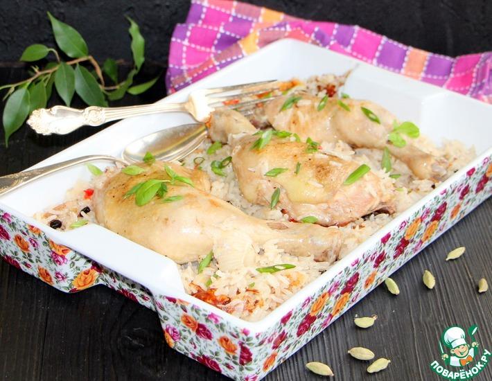 Рецепт: Карамелизированный рис с курицей