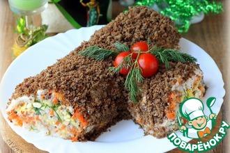 Рецепт: Салат Рождественское полено