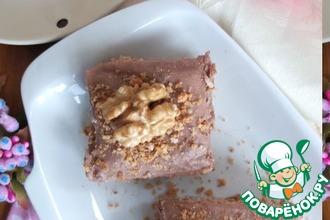Рецепт: Ореховые пирожные с шоколадным кремом