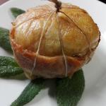 Куриный колобок с грибной начинкой
