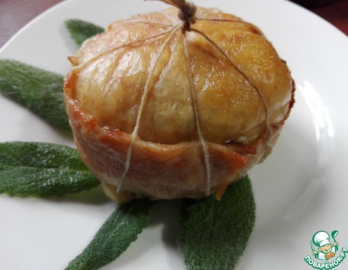 Рецепт: Куриный колобок с грибной начинкой