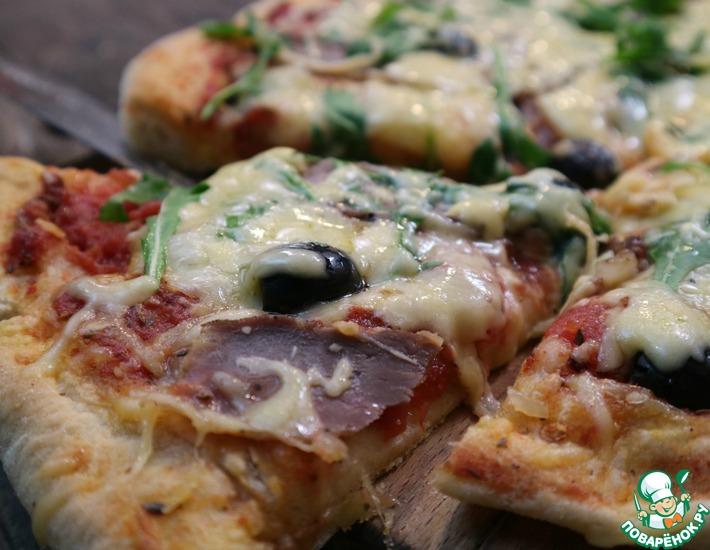 Рецепт: Потрясающая итальянская пицца с моцареллой