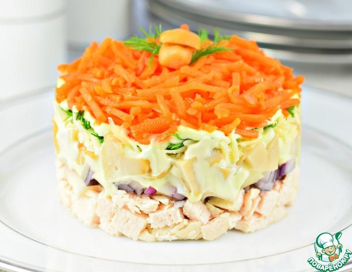 Рецепт: Салат слоеный Карусель