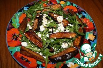 Рецепт: Салат из печеных баклажанов с фетой