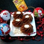 Кексы с халвой и кедровыми орехами