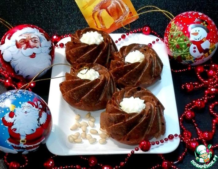 Рецепт: Кексы с халвой и кедровыми орехами