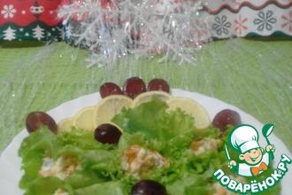 Рецепт: Рыбный салат Раковые шейки