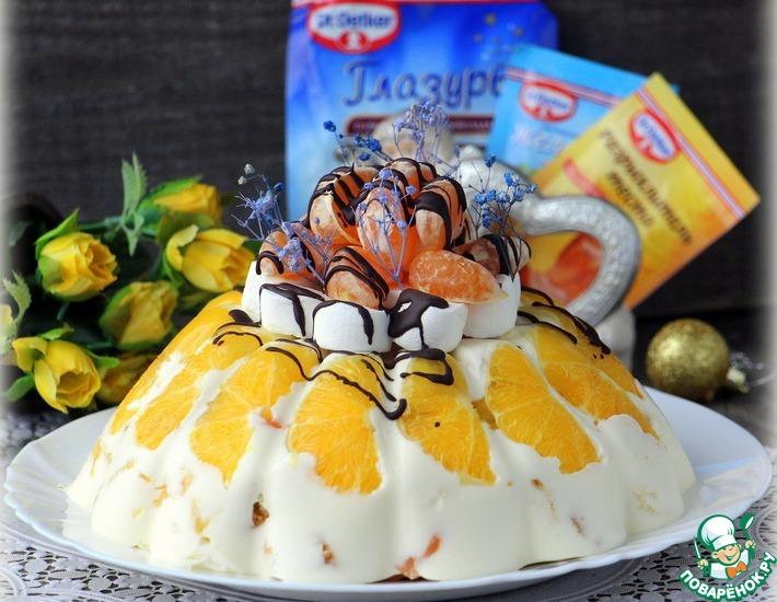Рецепт: Торт «Новогоднее облако»