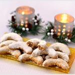 Рождественские ванильные рогалики