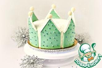 Рецепт: Торт Корона Снежной королевы