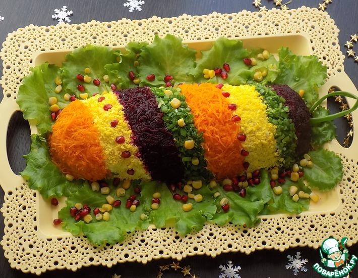 Рецепт: Салат ''Новогодняя хлопушка''