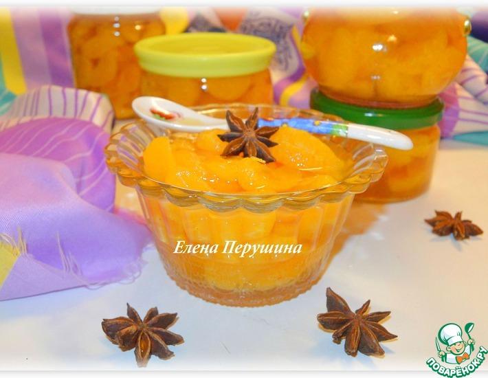 Рецепт: Мандариновые дольки в коричном сиропе