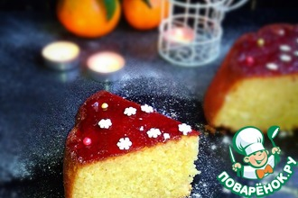 Рецепт: Творожный пирог Новогодняя ночь