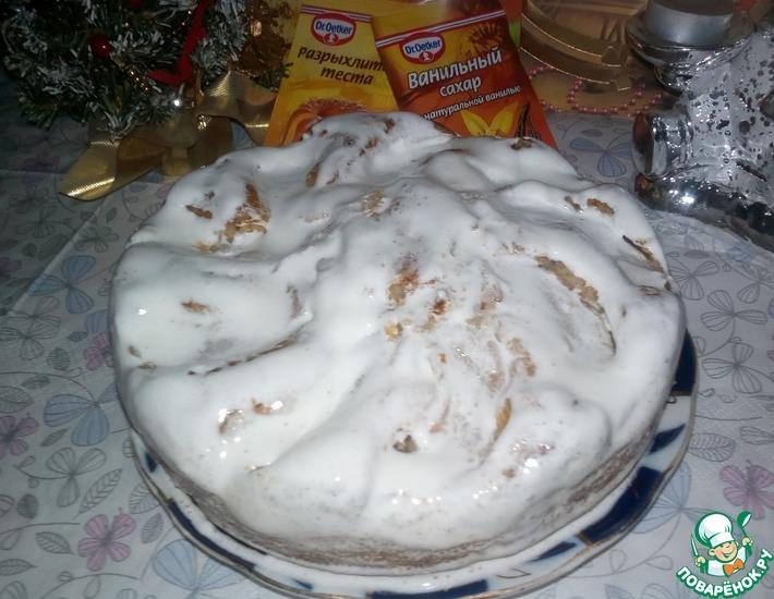Рецепт: Овсяно-медовый пирог с грушей и миндалем