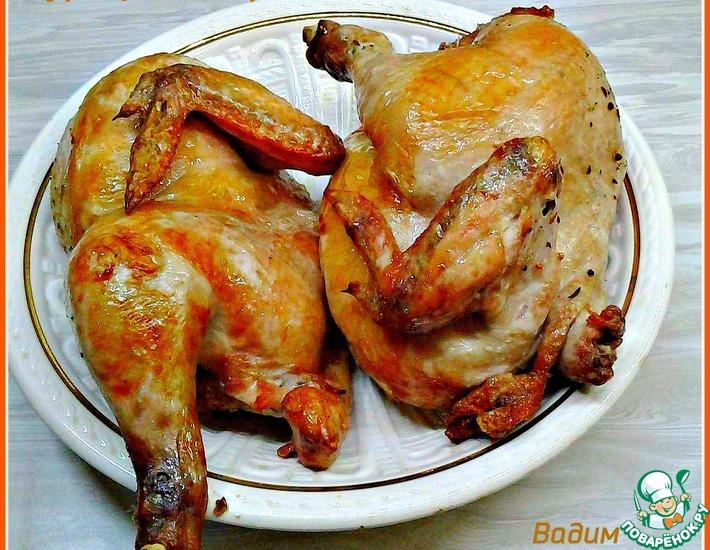 Рецепт: Запечённая маринованная курица