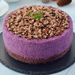 Черничный муссовый торт на брауни