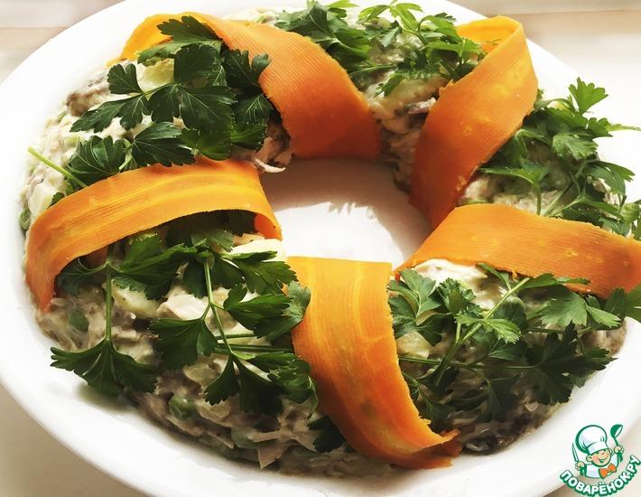 Рецепт: Салат Новогодний венок