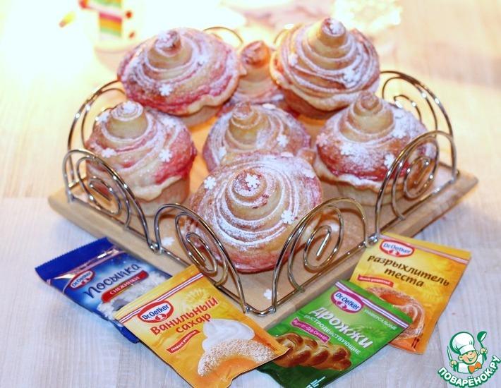 Рецепт: Кружевные булочки