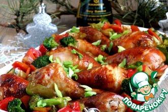 Рецепт: Куриные голени в пряной карамели