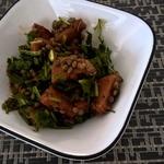 Ароматный тыквенный салат с одуванчиком