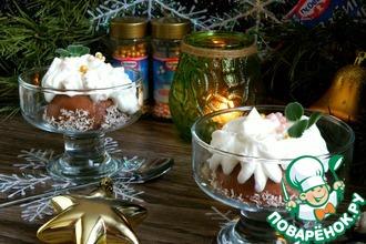 Рецепт: Ванильное пирожное в шоколадном муссе