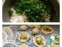 Пирожки с рисом и яйцом Застольные ингредиенты