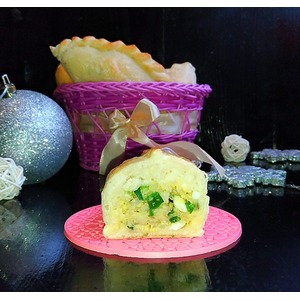 Пирожки с рисом и яйцом Застольные