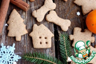 Рецепт: Новогоднее имбирное печенье