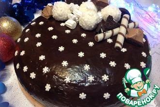 Рецепт: Шоколадный торт Зимняя ночь