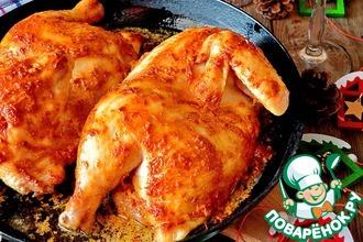 Рецепт: Цыпленок в духовке по-домашнему