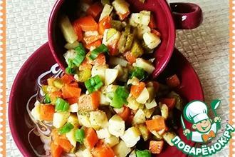 Рецепт: Салат картофельный Простецкий