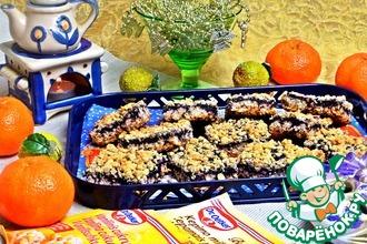 Рецепт: Печенье Овсяные квадратики