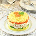 Салат с сыром и грибами Нежный