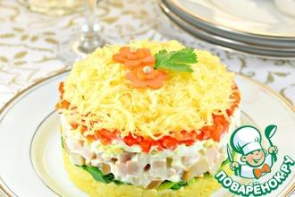 Рецепт: Салат с сыром и грибами Нежный
