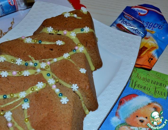 Рецепт: Пряник-пирог К Рождеству