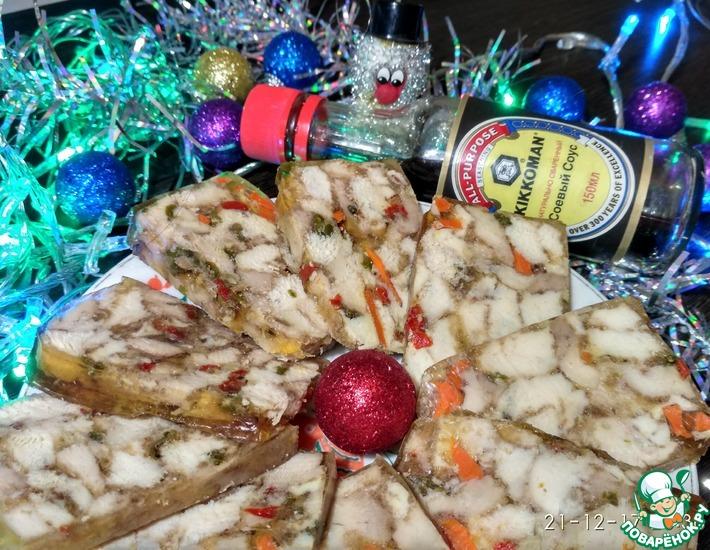 Рецепт: Домашняя ветчина Новогодняя