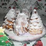Сдобные булочки Елочки с зефиром