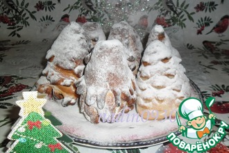 Рецепт: Сдобные булочки Елочки с зефиром