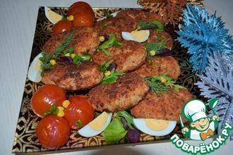 Рецепт: Котлеты рыбные К празднику