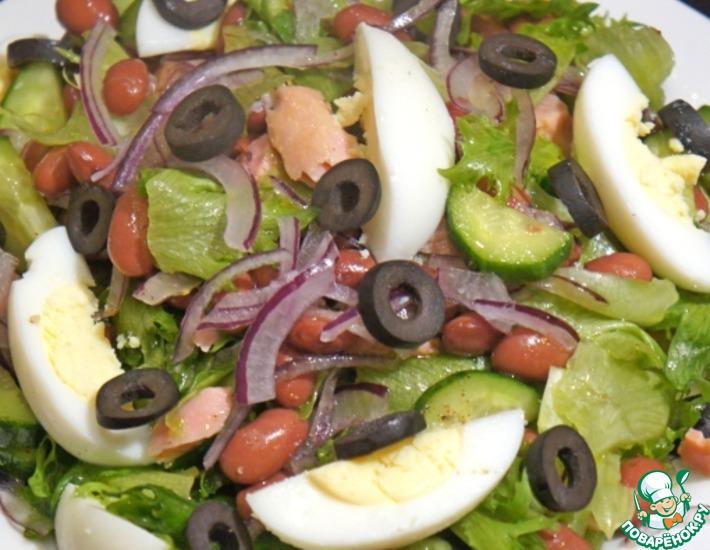 Рецепт: Салат с тунцом и фасолью