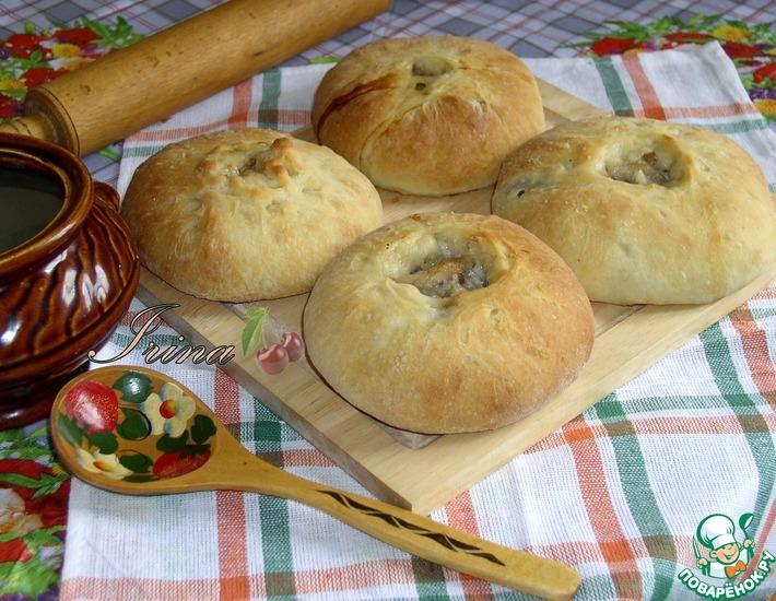 Рецепт: Расстегаи Днепропетровские с рисом и грибами