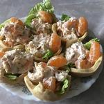 Тарталетки с салатом «Мандариновый рай»