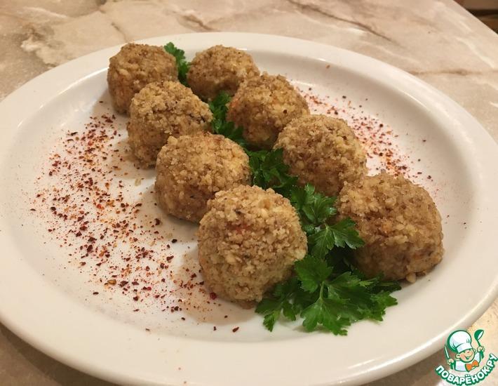 Рецепт: Закусочные шарики ''Мимоза''