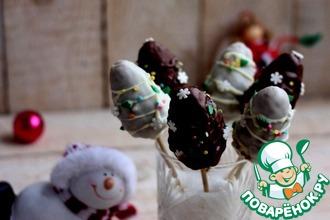 Рецепт: Новогодние кейк-попсы